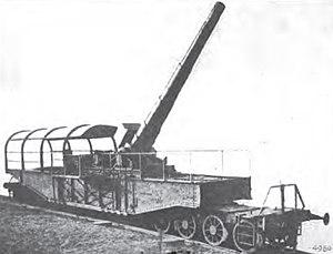 "24 cm SK L/40 ""Theodor Karl"" - One of four ""Theodor Karls"" on a railroad mount"