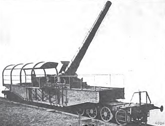 "24 cm SK L/40 ""Theodor Karl"" - One of four ""Theodor Karls"" on a railroad mount"