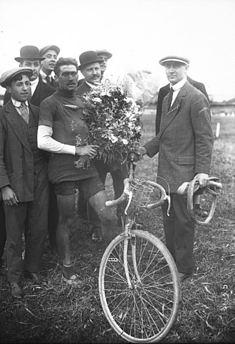 Henri Pélissier - Henri Pelissier after finishing the 1914 Tour de France.