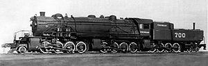 2-8-8-8-4 - The sole 2-8-8-8-4 locomotive