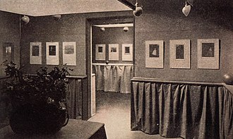 291 (art gallery) - View of the Gertrude Käsebier and Clarence H. White exhibition at the Little Galleries of the Photo Secession, 1906 (published in Camera Work, No. 14, 1906)