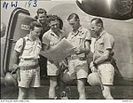 2 Squadron RAAF Hudson aircrew Hughes NT Mar 1943 AWM NWA0191.jpg
