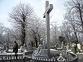 30. Bucuresti, Romania. Din Ciclul BUCURESTIUL SUB ASEDIUL FRIGULUI, Ianuarie 2019. Cimitirul Bellu Catolic. (Omul cu ziarul).jpg