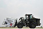 36th Contingency Response Group Airmen move relief supplies delivered by the Pakistan air force May 8, 2015, at Tribhuvan International Airport in Kathmandu, Nepal - 150508-F-XN788-058 (17254147420).jpg