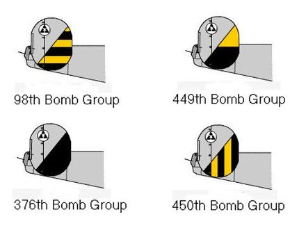Tail Markings Of The 47th Bomb Wing 15th Air Force