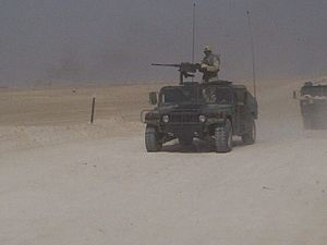 Camp Taji - 615th ASB 1st CAV Convoy into Iraq for OIF II.