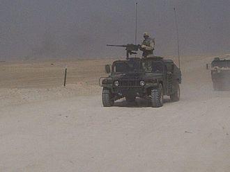 Camp Taji - 615th ASB 1st CAV Convoy into Iraq for OIF II.