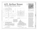 621 Arthur Street (House), 621 Arthur Street, La Grange, Troup County, GA HAER GA,143-LAGR,21- (sheet 1 of 1).png