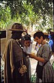 ASC Leiden - W.E.A. van Beek Collection - Dogon tourism 02 - Tourists in negotiations with a Fulbe man, Tireli, Mali 1985.jpg