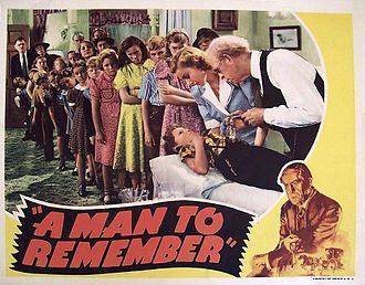 Edward Ellis (actor) - Lobby card for A Man to Remember (1938)