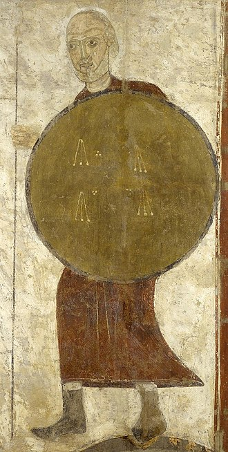 San Baudelio de Berlanga - The Warrior of San Baudelio. Remain inside the hermitage.