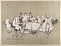 A chaotic operating room with an anxious surgeon, unhelpful Wellcome V0015709.jpg