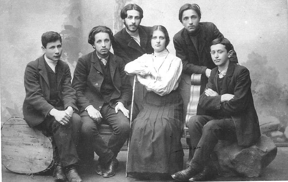 A group of Poalei Zion from Warsaw, 1905 -1