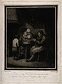 A poor family praying before eating their simple evening mea Wellcome V0015107.jpg