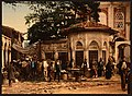 A street at Stamboul with fountain, Constantinople, Turkey LOC 4210464461.jpg
