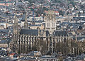 Abbaye Saint-Ouen de Rouen, South-West View from Mont Gargan 140215 3.jpg