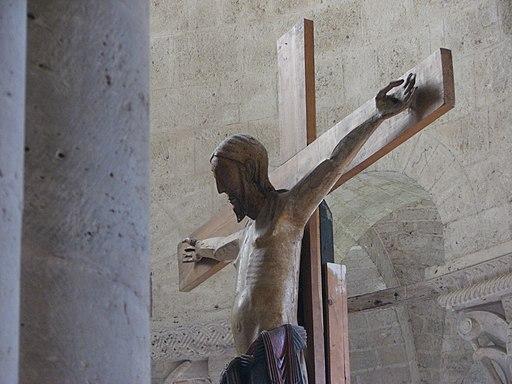 L'Abbazia di Sant'Antimo, il crocifisso dell'altare maggiore