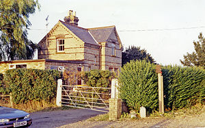Abbey and West Dereham railway station - Remains of the station seen in 1991