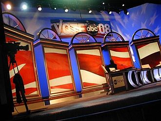 United States presidential debates - The stage at Saint Anselm College during the ABC/Facebook debates in 2008