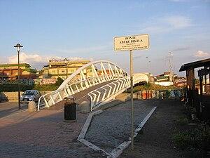 Modern pedestrian bridge