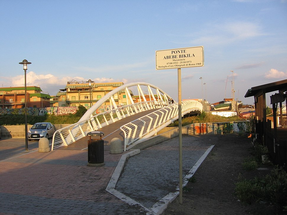 Abebe Bikila Bridge in Ladispoli