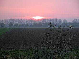 North Rhine-Westphalia - Sunset near the Lower Rhine