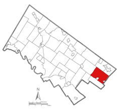 Location of Abington Township in Montgomery County