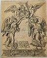 Abraham van Diepenbeeck, Ontwerp voor een expositietroon ook engelentroon geheten - Ébauche d'un trône d'exposition également appelé trône des anges, KBS-FRB.jpg