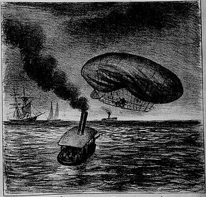 Santos-Dumont number 6 - Santos Dumont's accident on February 14, 1902.