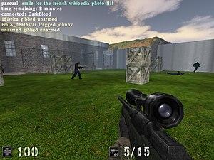 Cube (video game) - Screenshot of AssaultCube, a Cube derivative (2007).