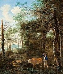 Cowherd in an Italian Landscape