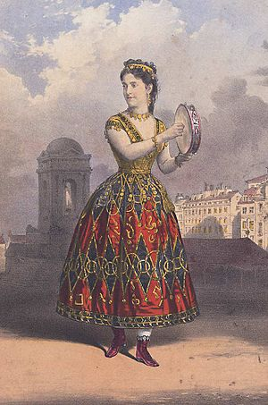 Fabio Campana - Adelina Patti as Esmeralda in Campana's last opera, London 1870