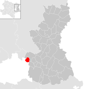 Location of the municipality of Aderklaa in the Gänserndorf district (clickable map)