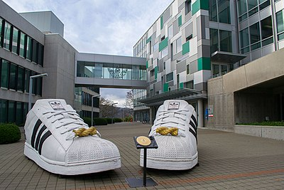 Adidas has its North American headquarters in the Overlook neighborhood Adidas Village Giant Shoes.jpg