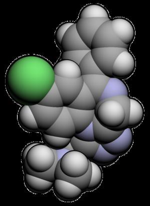 Adinazolam - Image: Adinazolam 3d