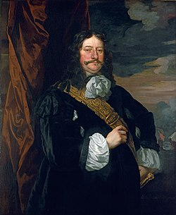 Thomas Teddeman by Peter Lely, 1666, part of the Flagmen of Lowestoft series AdmiralTeddiman.jpg