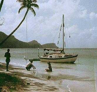 Bequia - Admiralty Bay Bequia in 1966