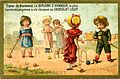 Advertising card depicting children playing croquet on the sand (14575221856).jpg