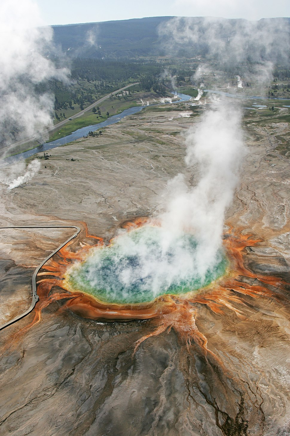 Aerial view of Grand Prismatic (23428929375)
