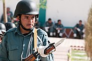 Afghan policeman bayonet