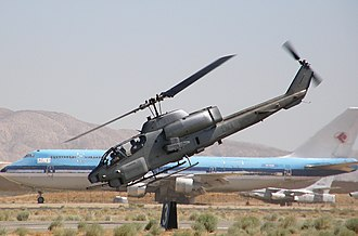 Bell AH-1 SuperCobra - AH-1W on a training mission at the Mojave Spaceport