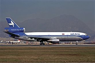 Korean Air Flight 803 - The aircraft involved in the accident, while still in service with Air Siam