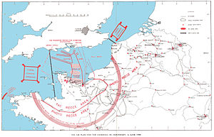 Operation Overlord - Map of the air plan for the Allied landing in Normandy