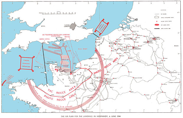 Map of the air plan for the Allied landing in Normandy Air plan for landings in Normandy June 1944.jpg