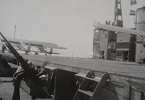 Convoy Hi-81 - The flight deck of Akitsu Maru in 1944.