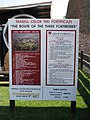 Alba Carolina Fortress 2011 - The Route of The Three Fortresses Sign.jpg