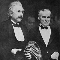 Albert Einsteiny Charles Chaplin en 1931.