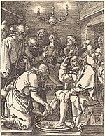 Albrecht Dürer, Christ Washing the Feet of the Disciples, probably c. 1509-1510, NGA 6759.jpg