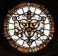 Alesso baldovinetti, vetrata con stemma medici e imprese di cosimo, piero e lorenzo legate, con scritta araba.jpg