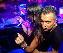 DJ Alex Gaudino with a Girl at Pacha London.